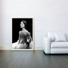 Audrey Hepburn Celebrity Icon - Prints & Posters, Wall Art Print, Decorative Arts, Poster Any Size - Black and White Poster